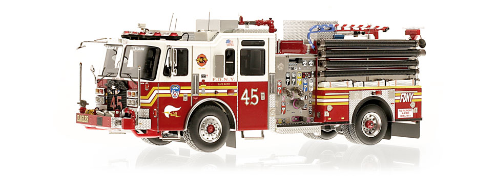 FDNY Engine 45 replica features razor sharp accuracy
