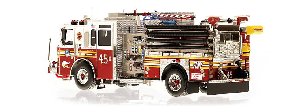 FDNY Engine 45 is hand-crafted using over 475 parts.