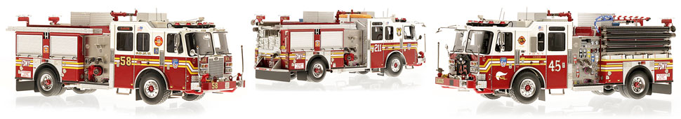 Only a limited number of FDNY KME Engine 3-Piece set are available
