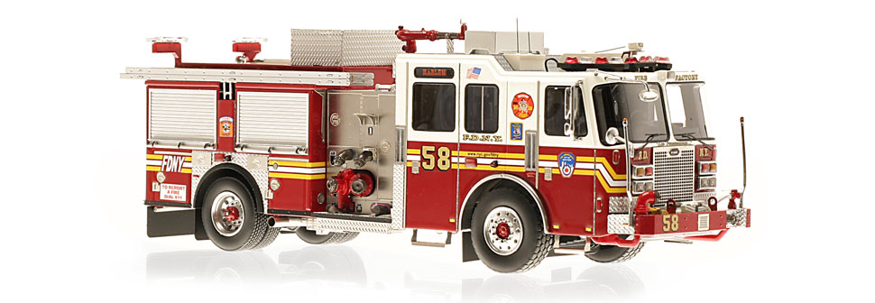 FDNY Engine 58 replica features razor sharp accuracy