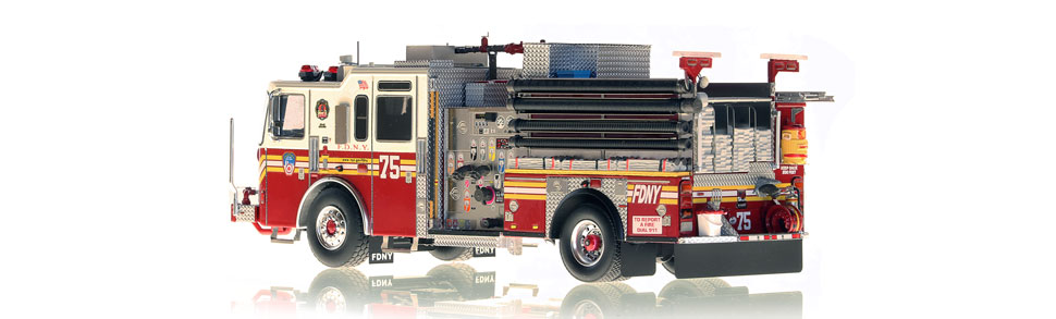 FDNY Engine 75 is hand-crafted using over 475 parts.