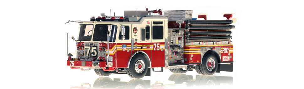 FDNY Engine 75 replica features razor sharp accuracy