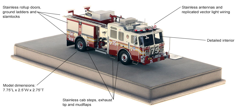 Specs and features of FDNY KME Engine 75