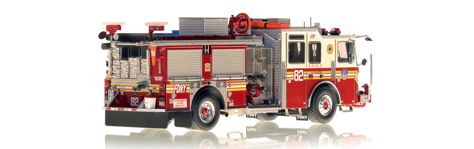 FDNY Engine 82 is hand-crafted using over 475 parts.