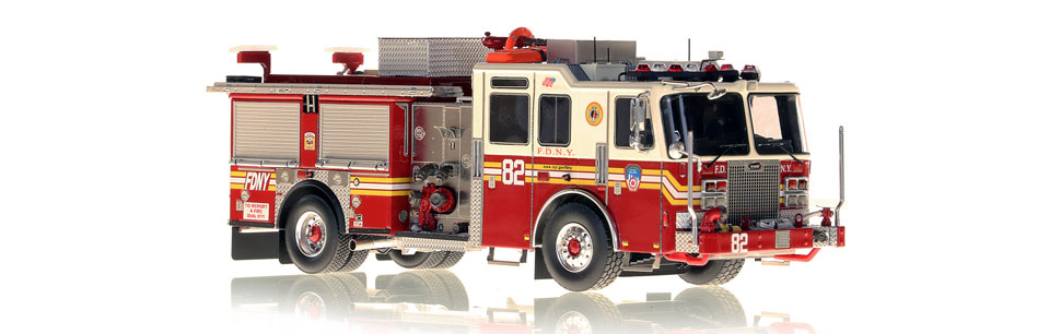 FDNY Engine 82 replica features razor sharp accuracy