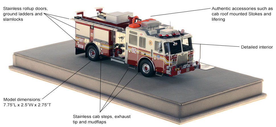 Specs and features of FDNY KME Engine 82