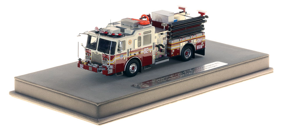 FDNY Engine 82 includes a fully custom display case.