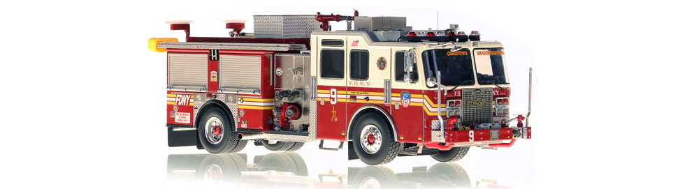 FDNY Engine 9 replica features razor sharp accuracy