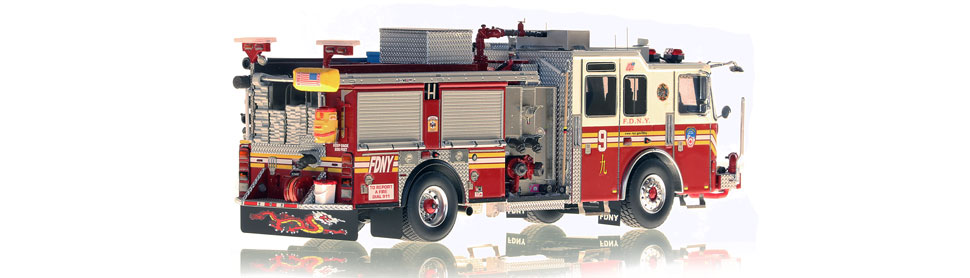 FDNY Engine 9 is hand-crafted using over 475 parts.