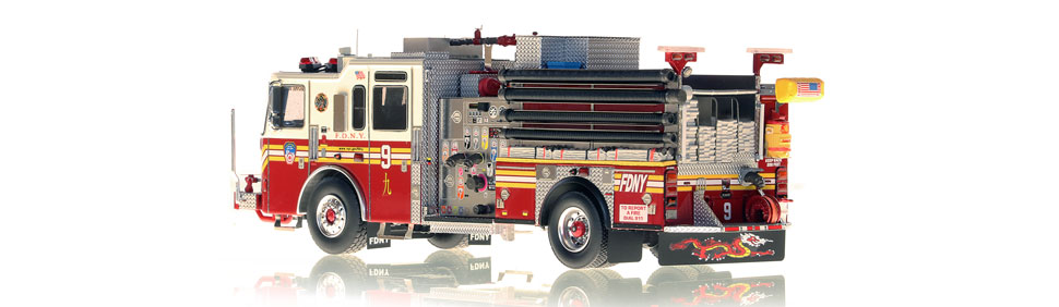 Production of FDNY Engine 9 is limited to 100 units.