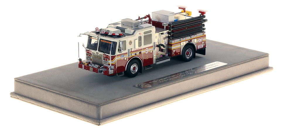 FDNY Engine 9 includes a fully custom display case