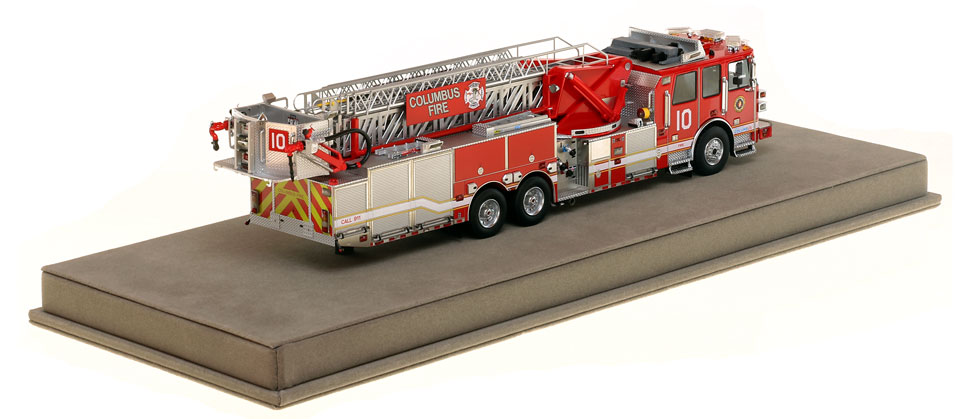 Columbus Ladder 10 scale model has over 830 parts.