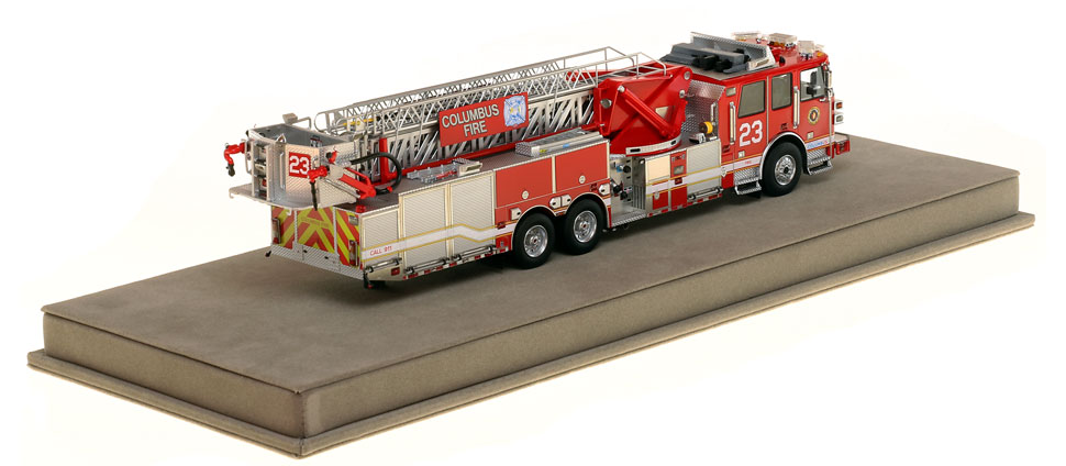 Columbus Ladder 23 scale model has over 830 parts.
