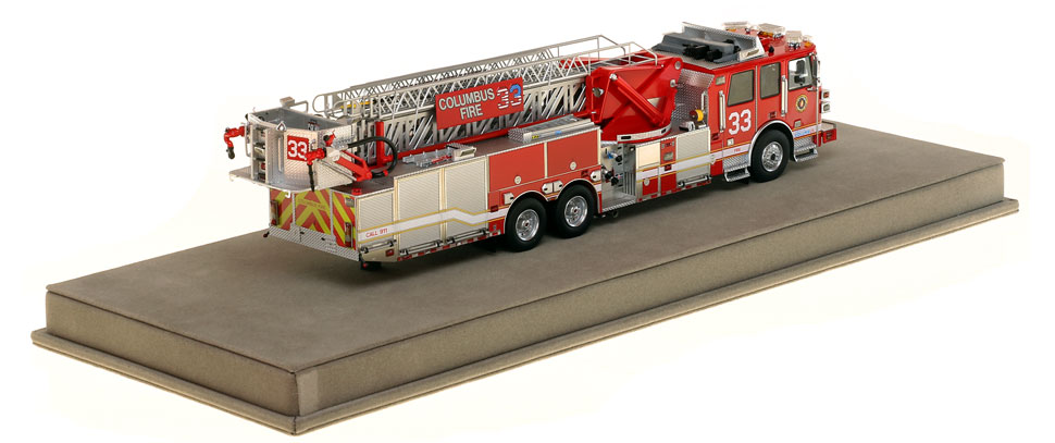 Columbus Ladder 33 scale model has over 830 parts.