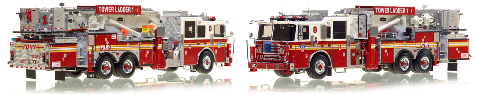 The first museum grade scale model of Manhattan's updated Ladder 1