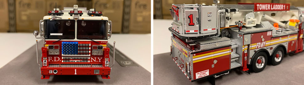 Closeup pictures 1-2 of the FDNY Ladder 1 scale model