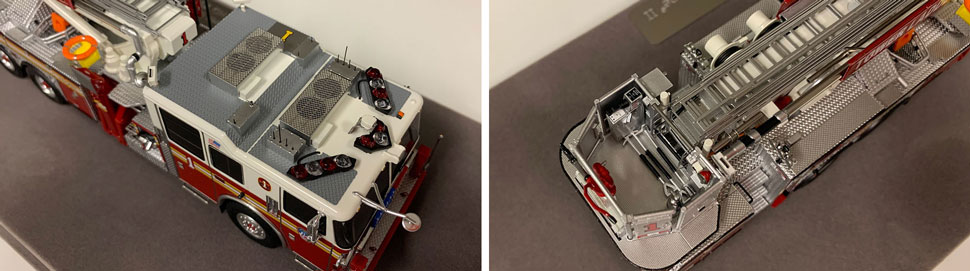 Closeup pictures 5-6 of the FDNY Ladder 1 scale model