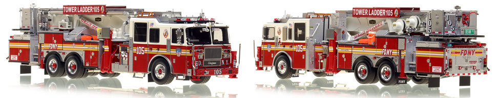 The first museum grade scale model of Brooklyn's Ladder 105