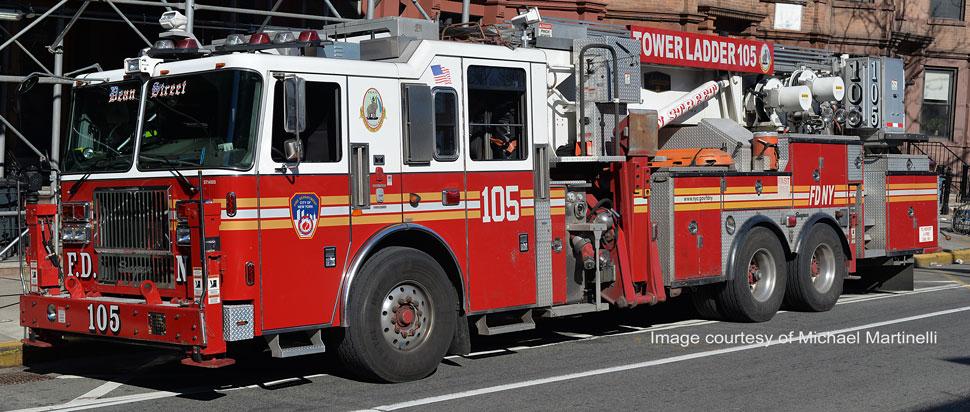 FDNY Tower Ladder 105 in Brooklyn