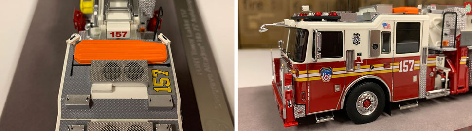 Closeup pictures 7-8 of the FDNY Ladder 157 scale model