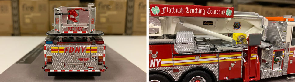Closeup pictures 11-12 of the FDNY Ladder 157 scale model