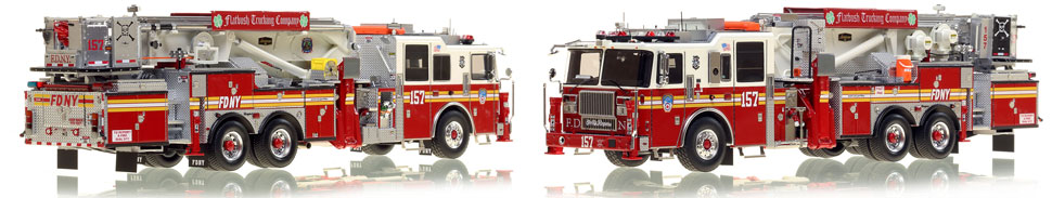 The first museum grade scale model of Brooklyn's Ladder 157