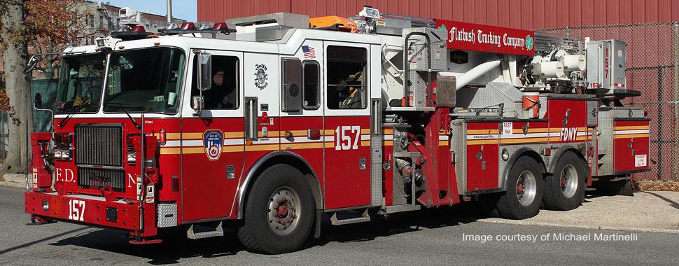 FDNY Tower Ladder 157 in Brooklyn
