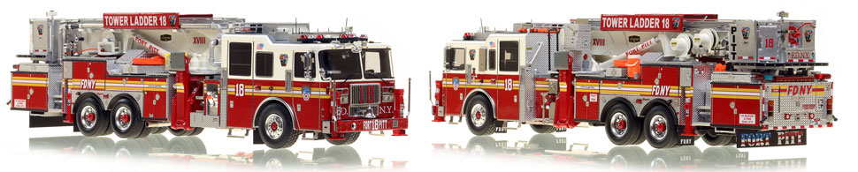 The first museum grade scale model of Manhattan's Ladder 18