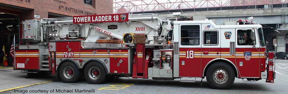 FDNY Tower Ladder 18 in Manhattan