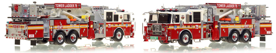 The first museum grade scale model of Staten Island's Ladder 79