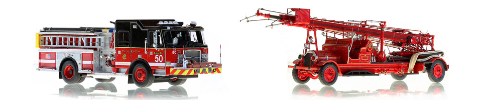 Shop our full line of Chicago Fire Department scale model fire trucks