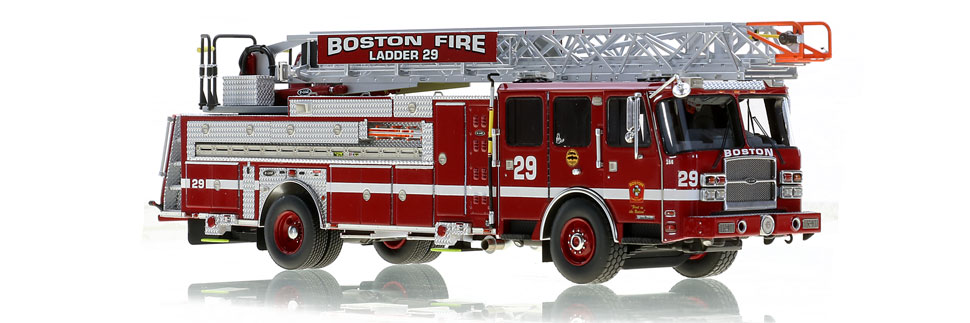 Boston Fire Department Ladder 29 scale model