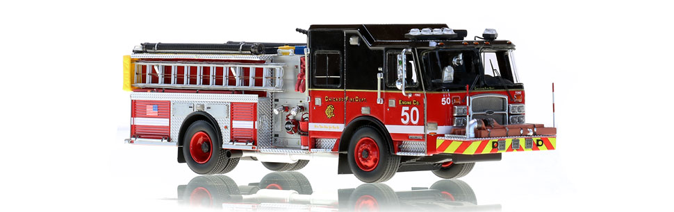 Chicago Engine 50 scale model