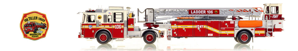 The first museum grade scale model of Brooklyn's FDNY Ladder 106