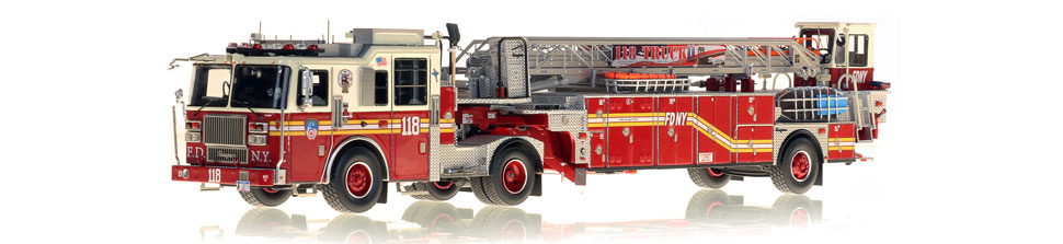 The first museum grade scale model of FDNY Ladder 118
