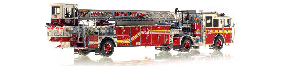 FDNY Ladder 118 is hand-crafted from over 920 parts