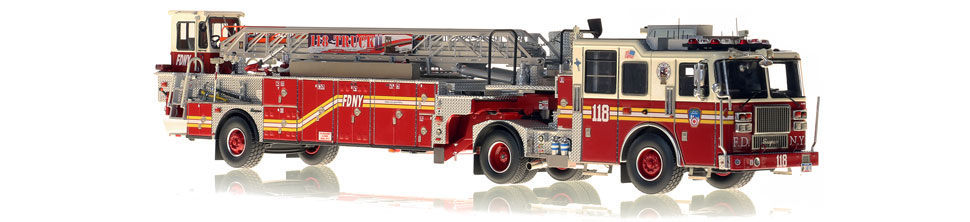 FDNY Ladder 118 features a 0.6mm stainless steel ladder