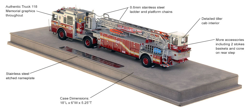 FDNY Ladder 118 scale model includes authentic details