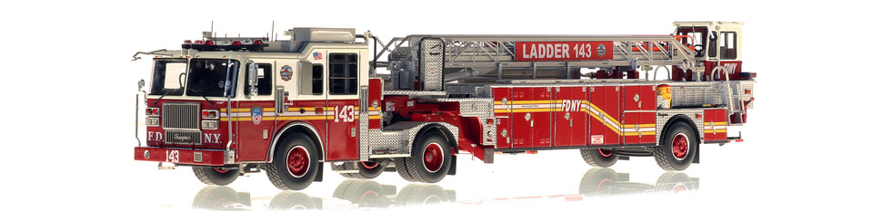 FDNY Ladder 143 features a 0.6mm stainless steel ladder