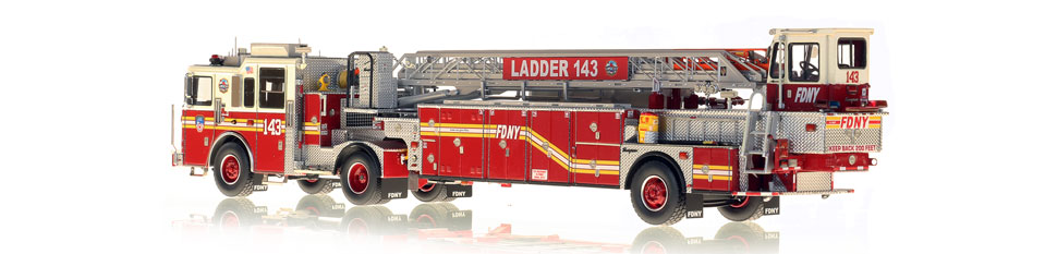 FDNY Ladder 143 is hand-crafted from over 920 parts