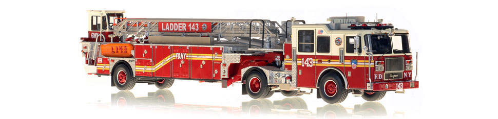 The first museum grade scale model of FDNY Ladder 143