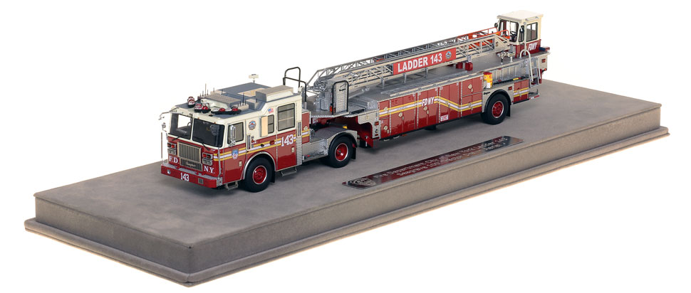 FDNY Ladder 143 scale model includes a fully custom case.