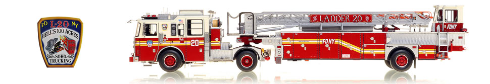 The first museum grade scale model of Manhattan's FDNY Ladder 20
