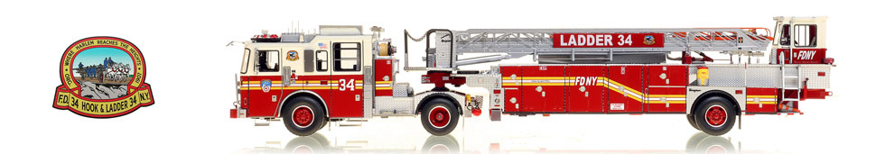 The first museum grade scale model of Manhattan's FDNY Ladder 34