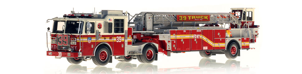 FDNY Ladder 39 features a 0.6mm stainless steel ladder