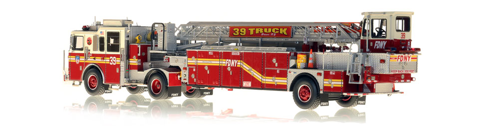 FDNY Ladder 39 is hand-crafted from over 920 parts