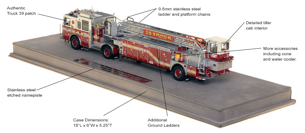FDNY Ladder 39 scale model includes authentic details