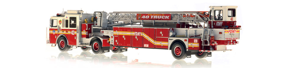 FDNY Ladder 40 is hand-crafted from over 920 parts