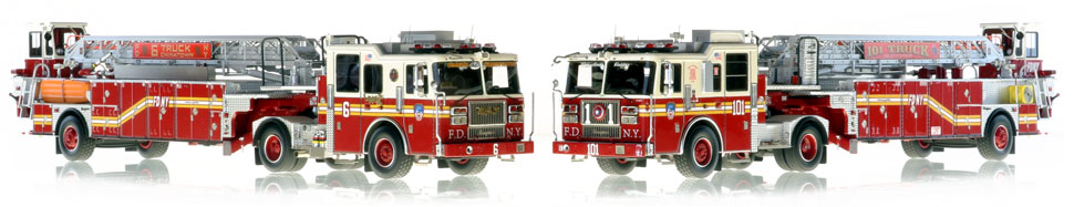 FDNY Ladder 6 and 101 scale models