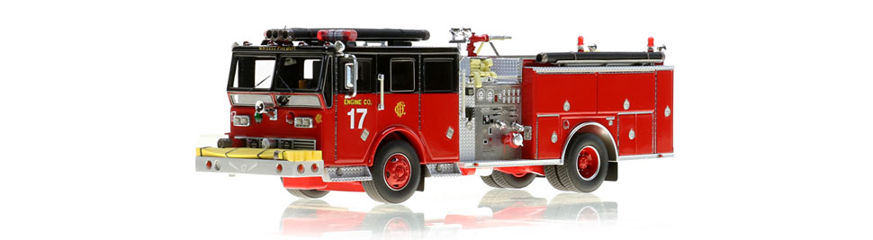 Chicago Engine 17 scale model